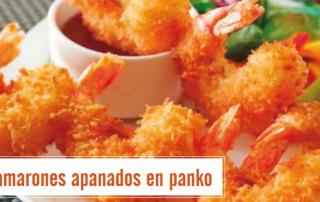 Camarones en panko