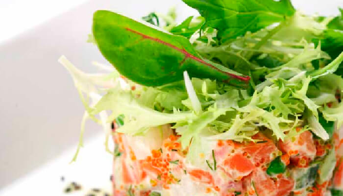tartare de dos salmones
